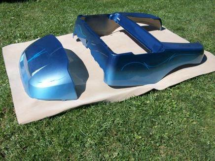 Club Car Precedent  Body Airbrushed 2 Tone Blue for sale at Area 31 Golf Carts - Custom Bodies in Acme PA