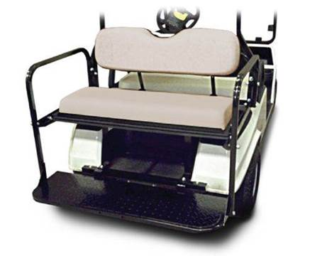 Rear Flip Seat Club Car DS for sale at Area 31 Golf Carts - Rear Seats in Acme PA