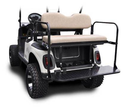 Rear Flip Seat Fits EZ-GO RXV for sale at Area 31 Golf Carts - Rear Seats in Acme PA