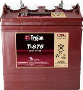 Trojan Battery 8 Volt T - 875 for sale at Area 31 Golf Carts - Trojan Batteries in Acme PA