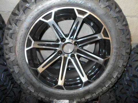 """Nitro Wheels with 23"""" AT Tires Golf Cart Wheels and Tires for sale at Area 31 Golf Carts - Wheels in Acme PA"""