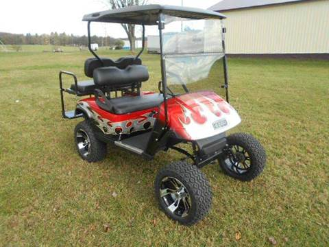 """2011 EZ-GO Lifted Golf Cart TXT """"GAS"""" for sale at Area 31 Golf Carts - Gas 4 Passenger in Acme PA"""