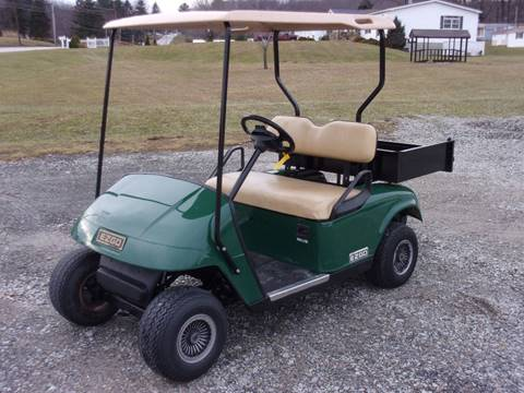 2006 EZ GO Electric Golf Cart TXT with Cargo Box.