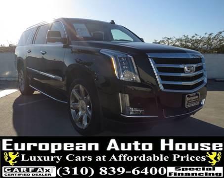 2017 Cadillac Escalade ESV for sale at European Auto House in Los Angeles CA