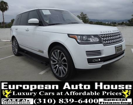 2015 Land Rover Range Rover for sale at European Auto House in Los Angeles CA