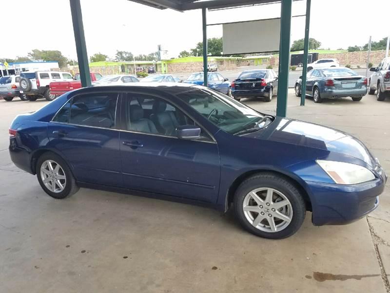 2003 Honda Accord EX V 6 4dr Sedan   Lubbock TX