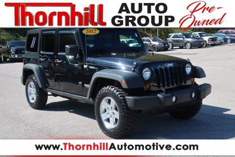 2012 Jeep Wrangler Unlimited for sale in Logan, WV