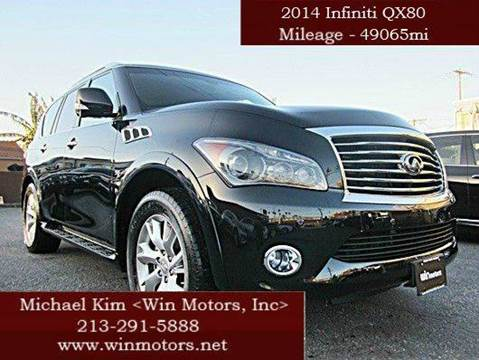 2014 Infiniti QX80 for sale at Win Motors Inc. in Los Angeles CA
