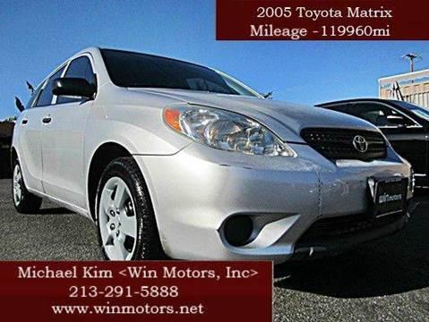 2005 Toyota Matrix for sale at Win Motors Inc. in Los Angeles CA