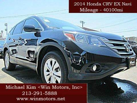 2014 Honda CR-V for sale at Win Motors Inc. in Los Angeles CA