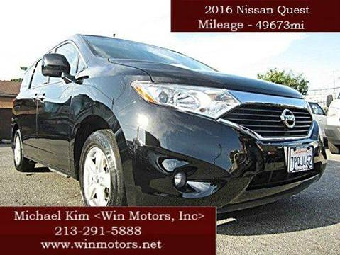 2016 Nissan Quest for sale at Win Motors Inc. in Los Angeles CA