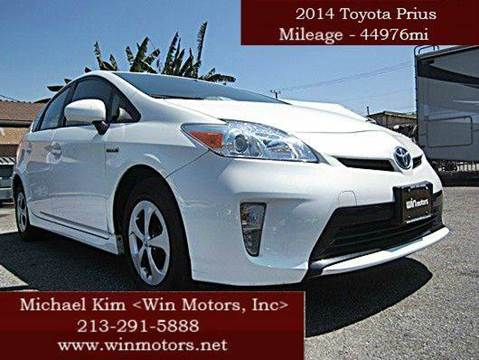 2014 Toyota Prius for sale at Win Motors Inc. in Los Angeles CA