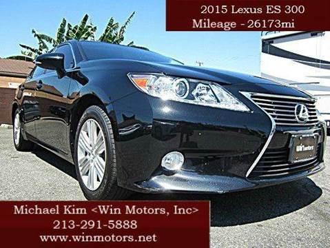 2015 Lexus ES 350 for sale at Win Motors Inc. in Los Angeles CA