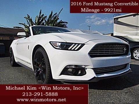2016 Ford Mustang for sale at Win Motors Inc. in Los Angeles CA