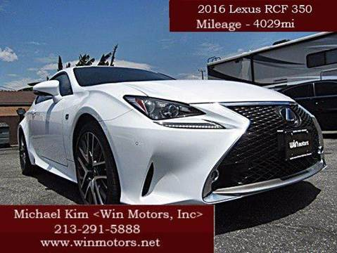 2016 Lexus RC 350 for sale at Win Motors Inc. in Los Angeles CA