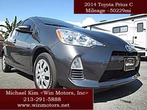 2014 Toyota Prius c for sale at Win Motors Inc. in Los Angeles CA