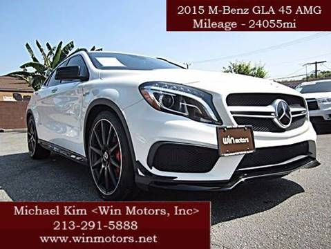 2015 Mercedes-Benz GLA for sale at Win Motors Inc. in Los Angeles CA