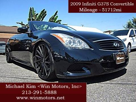 2009 Infiniti G37 Convertible for sale at Win Motors Inc. in Los Angeles CA