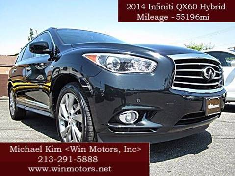 2014 Infiniti QX60 Hybrid for sale at Win Motors Inc. in Los Angeles CA