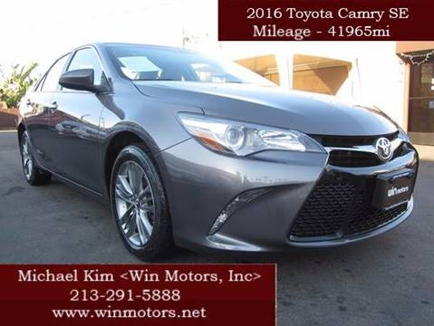 2016 Toyota Camry for sale at Win Motors Inc. in Los Angeles CA