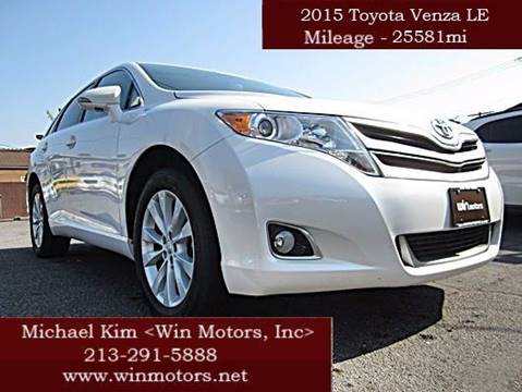 2015 Toyota Venza for sale at Win Motors Inc. in Los Angeles CA
