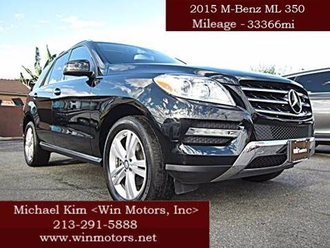 2015 Mercedes-Benz M-Class for sale at Win Motors Inc. in Los Angeles CA