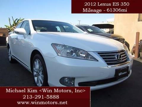 2012 Lexus ES 350 for sale at Win Motors Inc. in Los Angeles CA