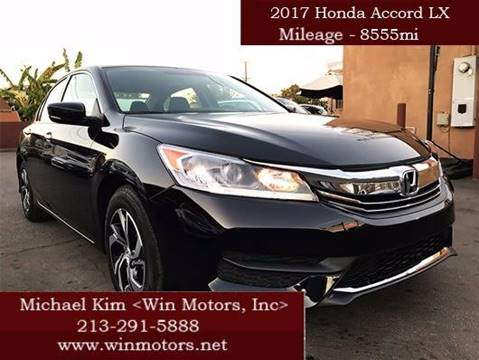 2017 Honda Accord for sale at Win Motors Inc. in Los Angeles CA