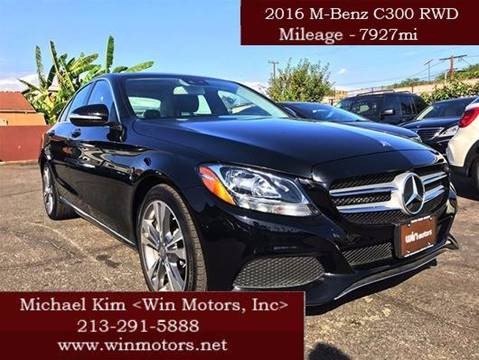 2016 Mercedes-Benz C-Class for sale at Win Motors Inc. in Los Angeles CA