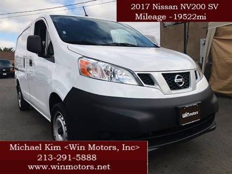 2017 Nissan NV200 for sale at Win Motors Inc. in Los Angeles CA
