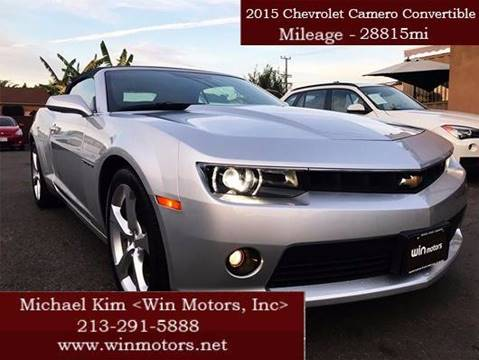 2015 Chevrolet Camaro for sale at Win Motors Inc. in Los Angeles CA
