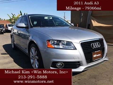 2011 Audi A3 for sale at Win Motors Inc. in Los Angeles CA
