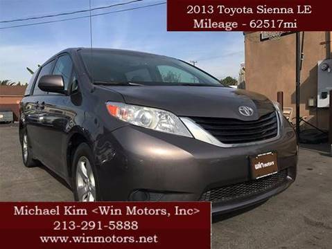 2013 Toyota Sienna for sale at Win Motors Inc. in Los Angeles CA