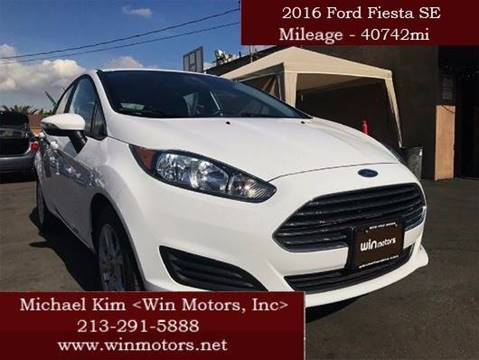 2016 Ford Fiesta for sale at Win Motors Inc. in Los Angeles CA