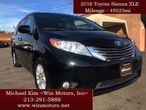2016 Toyota Sienna for sale at Win Motors Inc. in Los Angeles CA