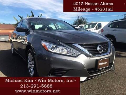 2016 Nissan Altima for sale at Win Motors Inc. in Los Angeles CA