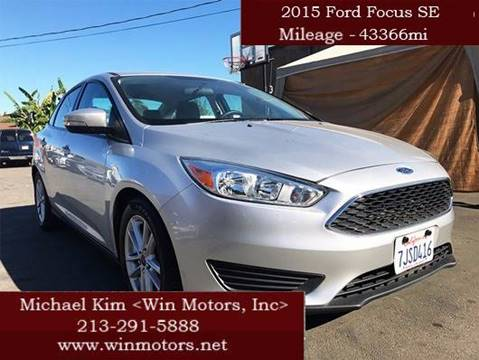 2015 Ford Focus for sale at Win Motors Inc. in Los Angeles CA