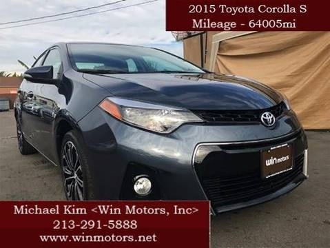 2015 Toyota Corolla for sale at Win Motors Inc. in Los Angeles CA