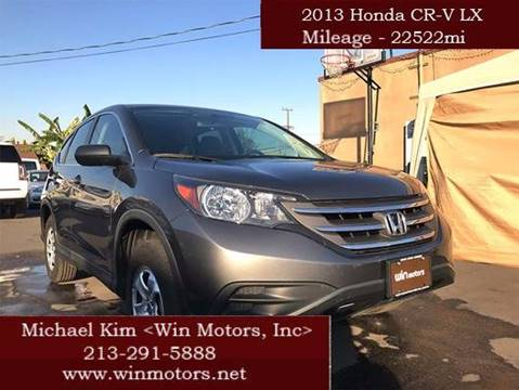 2013 Honda CR-V for sale at Win Motors Inc. in Los Angeles CA
