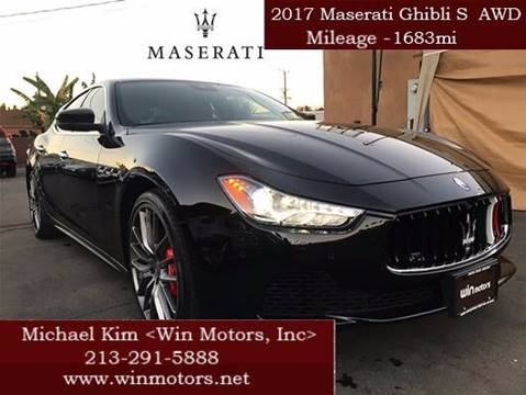 2017 Maserati Ghibli for sale at Win Motors Inc. in Los Angeles CA
