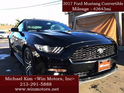 2017 Ford Mustang for sale at Win Motors Inc. in Los Angeles CA
