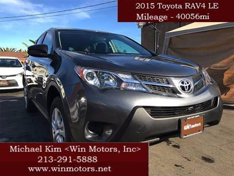 2015 Toyota RAV4 for sale at Win Motors Inc. in Los Angeles CA