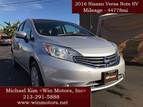 2016 Nissan Versa Note for sale at Win Motors Inc. in Los Angeles CA