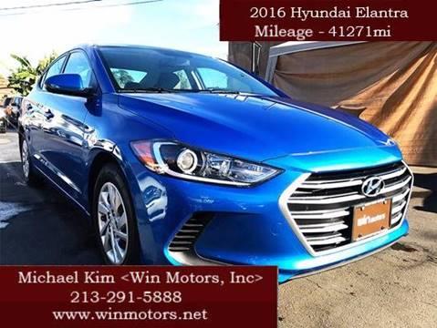2017 Hyundai Elantra for sale at Win Motors Inc. in Los Angeles CA