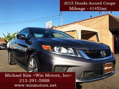 2015 Honda Accord for sale at Win Motors Inc. in Los Angeles CA