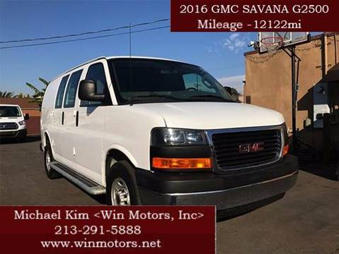 2016 GMC Savana Cargo for sale at Win Motors Inc. in Los Angeles CA