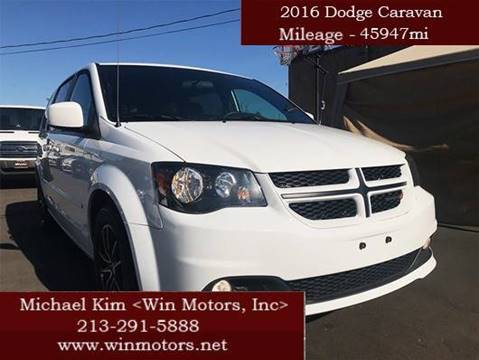 2016 Dodge Grand Caravan for sale at Win Motors Inc. in Los Angeles CA