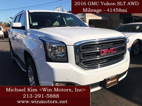 2016 GMC Yukon for sale at Win Motors Inc. in Los Angeles CA