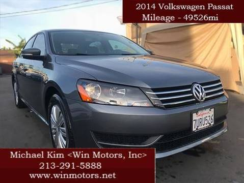 2014 Volkswagen Passat for sale at Win Motors Inc. in Los Angeles CA