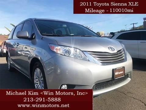 2011 Toyota Sienna for sale at Win Motors Inc. in Los Angeles CA